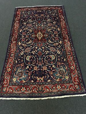 """Sale Great Deal Hand Knotted Mahal-Sarouk Persian oriental Floral Rug  4'1""""x7'3"""""""