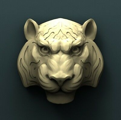 3d STL Model Relief for CNC Router Aspire _ (0449) Tiger