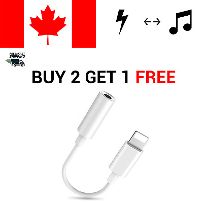 For iPhone 7 8 X XR 11 Lightning To 3.5mm Jack Earphone Headphone Aux Adapter