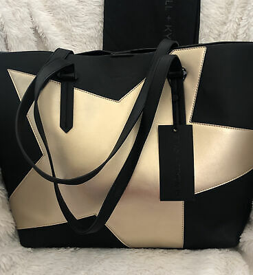 714f6438a5227 KENDALL + KYLIE Handbag Izzy Star Tote Gold Metallic with Pouch and DUST BAG