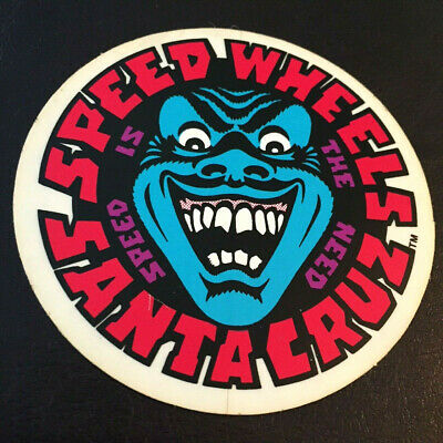 NOS vintage SPEED WHEELS 1980s Santa Cruz skateboard sticker VTG