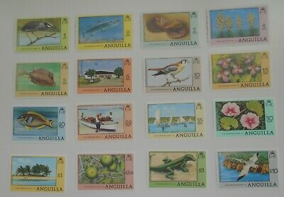 1977 - Anguilla Local Motif Stamps 16 Values to $10 MNH