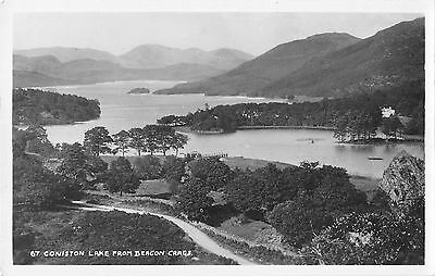 BR95915 coniston lake from beacon crags real photo  uk