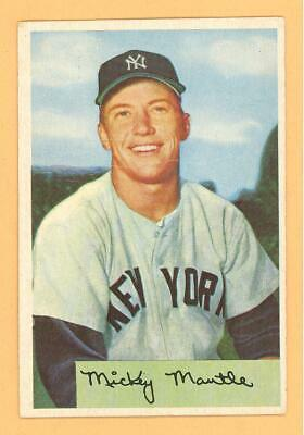 Original Mickey Mantle 1954 Bowman Baseball Card 65 New York Yankees L At At K Rare