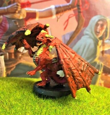 RED DRAGON WYRMLING D&D Miniature Dungeons Dragons pathfinder young monster  39 Z
