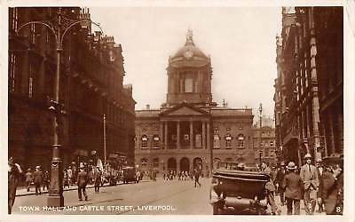 uk32943 town hall and castle street liverpool real photo  uk