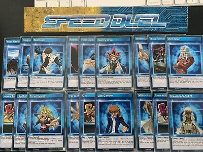 Yugioh Complete 18 Card Speed Duel Starter Deck Skill Set Yugi Kaiba Joey Mai NM