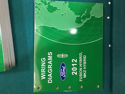 brand new 2012 ford fusion mkz hybrid wiring diagram dealer shop service  manual