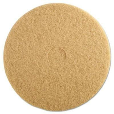 "3m 05606 Ultra High-speed Floor Burnishing Pads 3400, 20"" Dia, Tan, 5/carton"