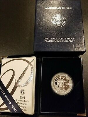 2004-W American Eagle Platinum Proof 1/2 oz. ($50) with Box & COA - LOW MINTAGE