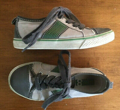 322ee655045 TOMS KIDS SNEAKERS Size 4 Youth Gray and Green Lace Up Canvas Shoes ...