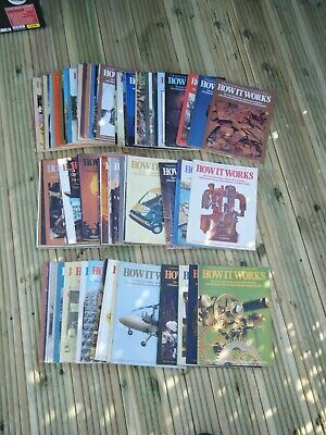 FULL SET OF 98 HOW IT WORKS MAGAZINE 1st EDITION MARSHALL CAVENDISH EX CONDITION
