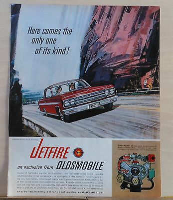 1963 OLDSMOBILE JETFIRE Turbo Rocket V-8 Original Print Ad 9