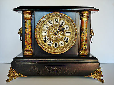 1890's Wm. Gilbert - 8 Day MANTLE CLOCK - Running ACCURATELY - Exc. Orig. Finish