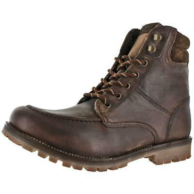 BHFO 3774 Crevo Mens Stags Brown Textured Casual Boots Shoes 11.5 Medium D