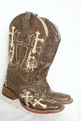 6329323b1 Corral Circle G Brown Embroidered Cross Cowboy Boot L5042 Women's US ...