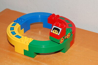Yellow /& Brown LEGO Duplo Boat 10x16 w// Mast Crossmembers /& Red Crows Nest