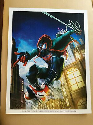 Laminated SPIDERMAN Into the Spider-Verse Art Poster 24x36in 61x91cm