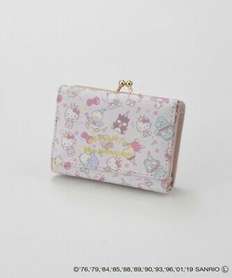 b799c1cfd Hello Kitty 45th Anniversary Pink Wallet Japan Limited Sanrio Coin Purse  Keroppi
