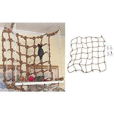 BD_Parrot Birds Climbing Net Jungle Fever Rope Small Animals Toys、FEH