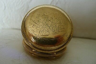 Rare Antique 19th Century Elgin US G/P Hunter Pocket Watch Gold Rush Prospecting