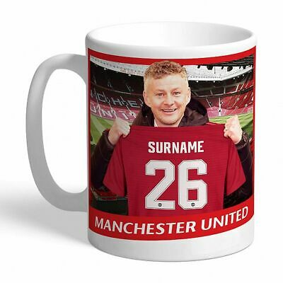 Personalised Manchester United Mug - Solskjær - perfect gift  - FREE DELIVERY