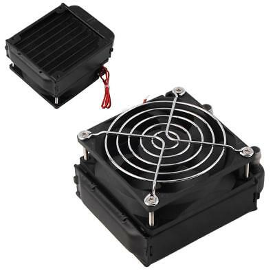 Aluminum 80mm Water Cooling Cooled Row Heat Exchanger Radiator + Fan for CPU BE