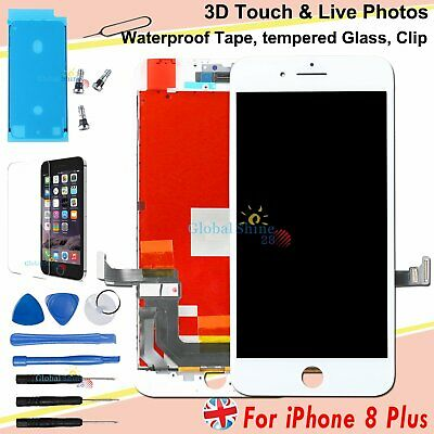 For iPhone 8 Plus LCD Screen Display Replacement Digitizer Frame White 3D Touch