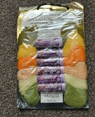 """Vintage Anchor Stranded Wools """"Discovering Stitches"""" - Marigold Z101 - 100% Wool"""