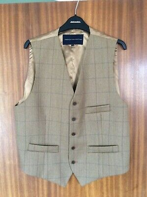 French Connection, Light Brown, Wool Blend, Waistcoat / Vest, Size: U.K. 42R / E