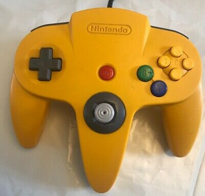 Nintendo 64 N64 Official Controller Control Pad Yellow Nus-005