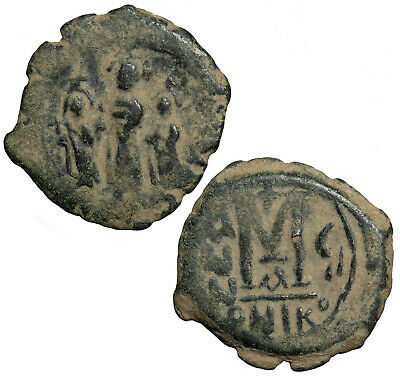 Byzantine follis of Heraclius, Heraclius Constantine and Martina from Nicomedia