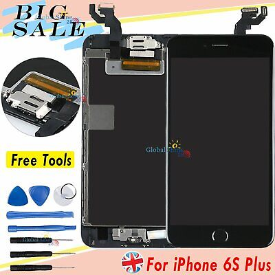 For iPhone 6S Plus Screen Replacement Touch LCD Display Home Button Camera Black