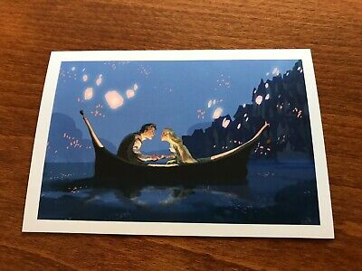 The Art of Disney Princesses Themed Postcard - Tangled #5 - NEW