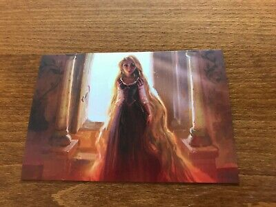 The Art of Disney Princesses Themed Postcard - Tangled #6 - NEW