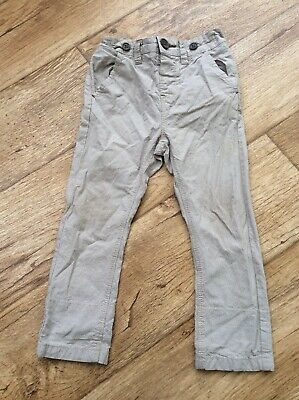 Next Baby Boys 18-24 Months Skinny Trousers Sand Beige Slim Fit Kids Adjustable
