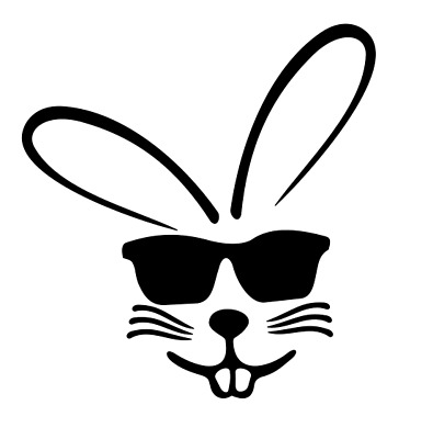 Threadrock Unisex Kids/' Bunny Youth T-Shirt Easter Rabbit Silhouette Cool