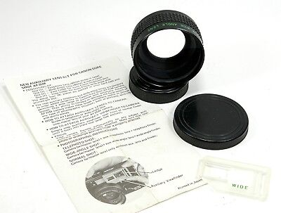 Auxiliary Wide-Angle Lens w/Finder for Canon Sure Shot AF35M 35mm Camera