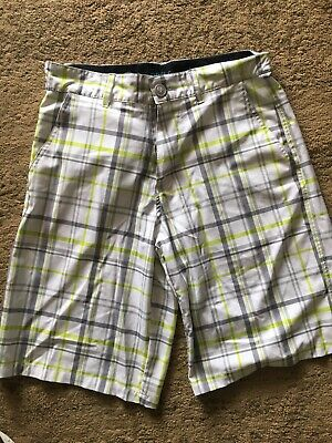 d57e0f8b6b OP Ocean Pacific OPFlex Mens Size 28 Plaid Shorts 4 Way Stretch Flat Front