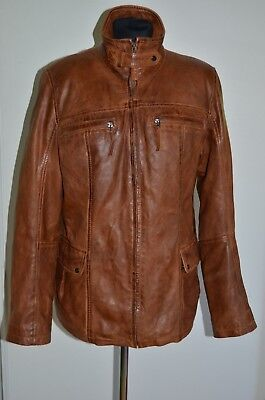 c9a8aa646f98 Morena nappa leather women jacket size in brown colour, size M, UK 12,
