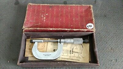 """Starrett 0 - 2"""" Micrometer No.2, with Spacer No.212, Boxed (Lot.771)"""