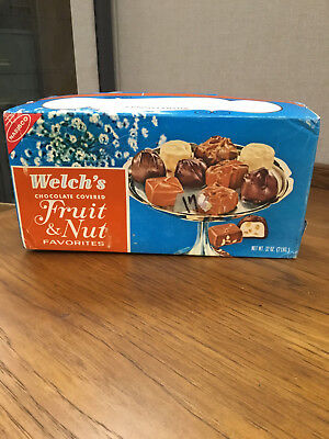 Welch's Fruit and Nut Favorites box -- vintage Nabisco