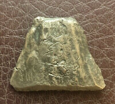 Ancient Artifact > Viking Silver Trade Ingot w Graffiti & Runic Inscription VK89
