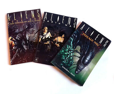 Dark Horse Comics ALIENS Expanded Universe Graphic Novels, set of 3, used