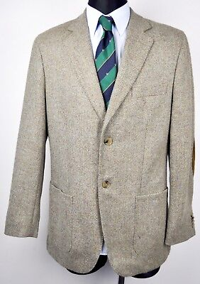 e22d0d9b7c15 GANT Men's Herringbone Tweed Blazer 100% Wool Elbow Patch UK 38 Jacket EU  48 Gr
