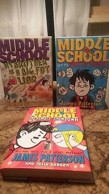 3x Middle School Books: My Brother Is A Big, Fat Liar and more James Patterson