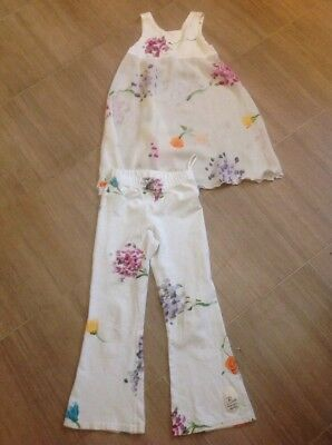 Baln Hand-painted  Cape Town 2 Piece Matching Leggings Top Set Age 6 Gorgeous Vg