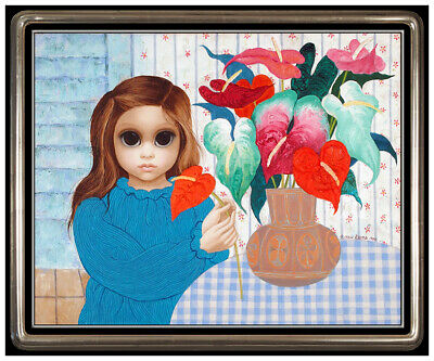 Margaret Keane Original Oil Painting on Canvas Signed Modern Big Eyes Portrait