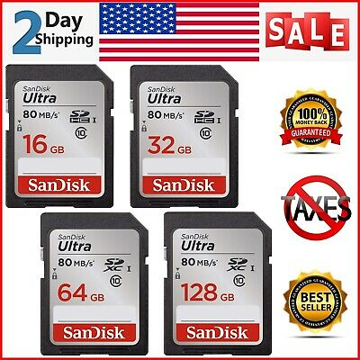 SanDisk Ultra 16GB 32GB 64GB 128GB SD Card Class10 80MB/s Memory Card