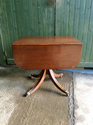 Georgian style single column Mahogany dining table by Bevan Funnell Reprodux